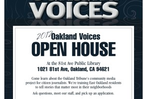 Oakland Voices Open House Flyer