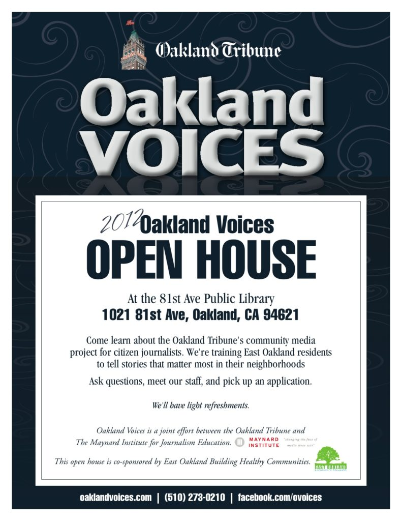 Open House: Saturday, March 3 at 3pm, 81st Ave Library