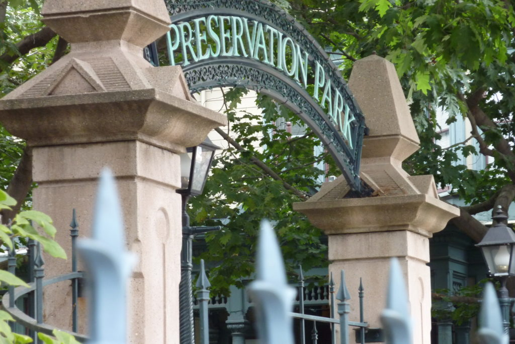 The gates of Preservation Park