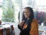 "Aqueene Simran, Curator, says Omiiroo, ""has the power to draw positive energy."" by Sabirah Mustafa. Oakland Voices 2012"