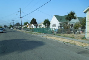 The 1100 block of 84th Ave, where an Oakland resident was pistol whipped during a home invasion robbery last July. I'm sure the victims wish they had been strapped that fateful morning! Photo: Michael Holland, Oakland Voices 2012
