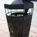 Laurel District has a heavy trash can present that helps to eliminate garbage.