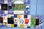 In the Laurel art district, it is decorated with various mediums of art created by the community's residents.