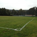 This large soccer field is also at Mills College. People jog and and run along the surrounding trail. I see people of all ages and abilities utilizing this field. Katherine Brown - Oakland Voices.