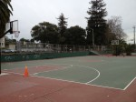 This is the basketball court at Concordia Park. Even though it is a bit broken down, folks still come out and play - whether it's to play horse or one-on-one. Katherine Brown - Oakland Voices.