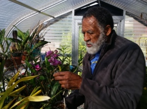 Baba in his greenhouse