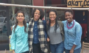 Monica Garcia, Ayohenia Chaney, Brytanee Brown and Tia hicks (left to right) helped organize the community forum.