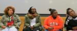 Dane'Nicole Williams, Alexis Hill, LeeAhna Smith, Kierra Bassette-Cotton at the Community Report Back.