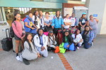 The travel group at the WEst Oakland BART station at the end of the Community sendoff.