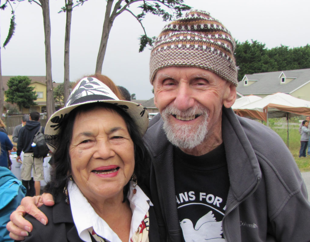 United Farm Workers Co-Founder Dolores Huerta, Rev. Vitale