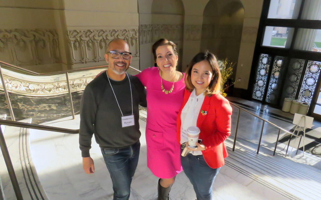 Mayor Libby Schaaf with Ron Pineda and Mai-Ling Garcia.