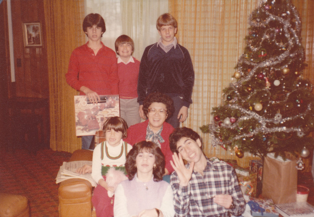 Auntie Phyllis with some nephews and nieces. Detroit, circa 1980. (Source: K. Ferreira)