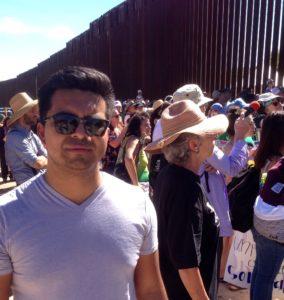 Oakland resident Javier De Paz at Nogales, AZ border