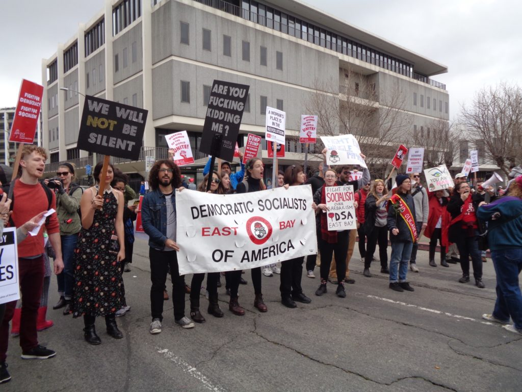 Democratic Socialists & banner