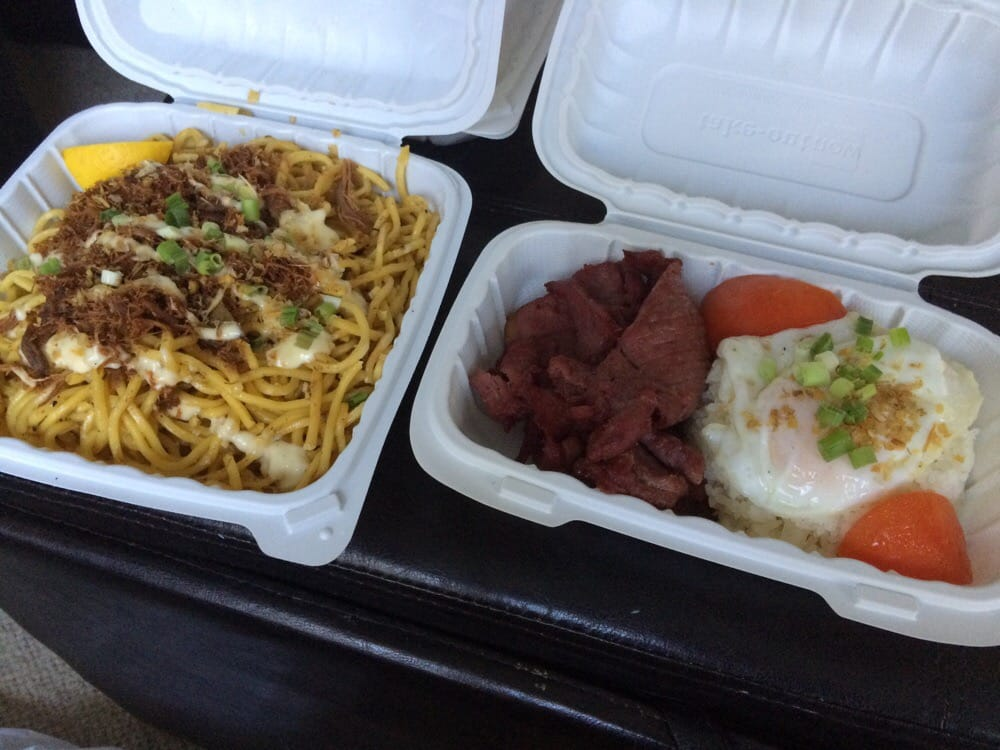 """Hangover Heaven"" take-out order. Photo: Christa Y., Yelp."