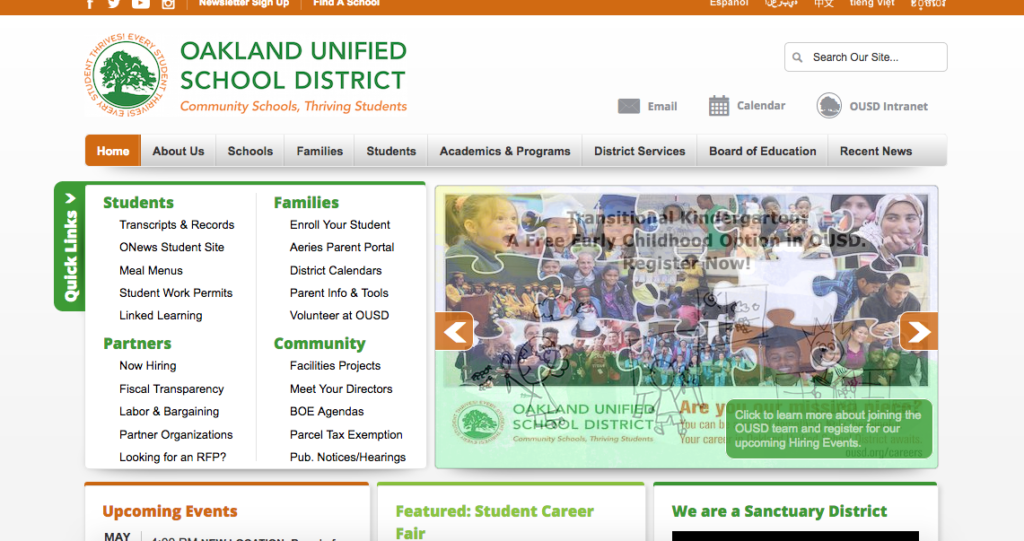 Contacting Oakland Unified School District: An Exercise in Frustration